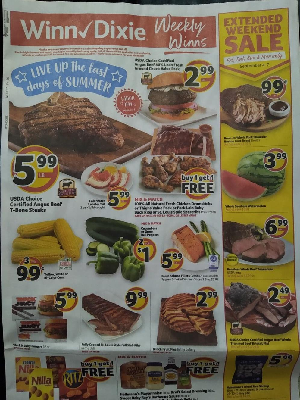 winn dixie weekly ad sep 2 2020