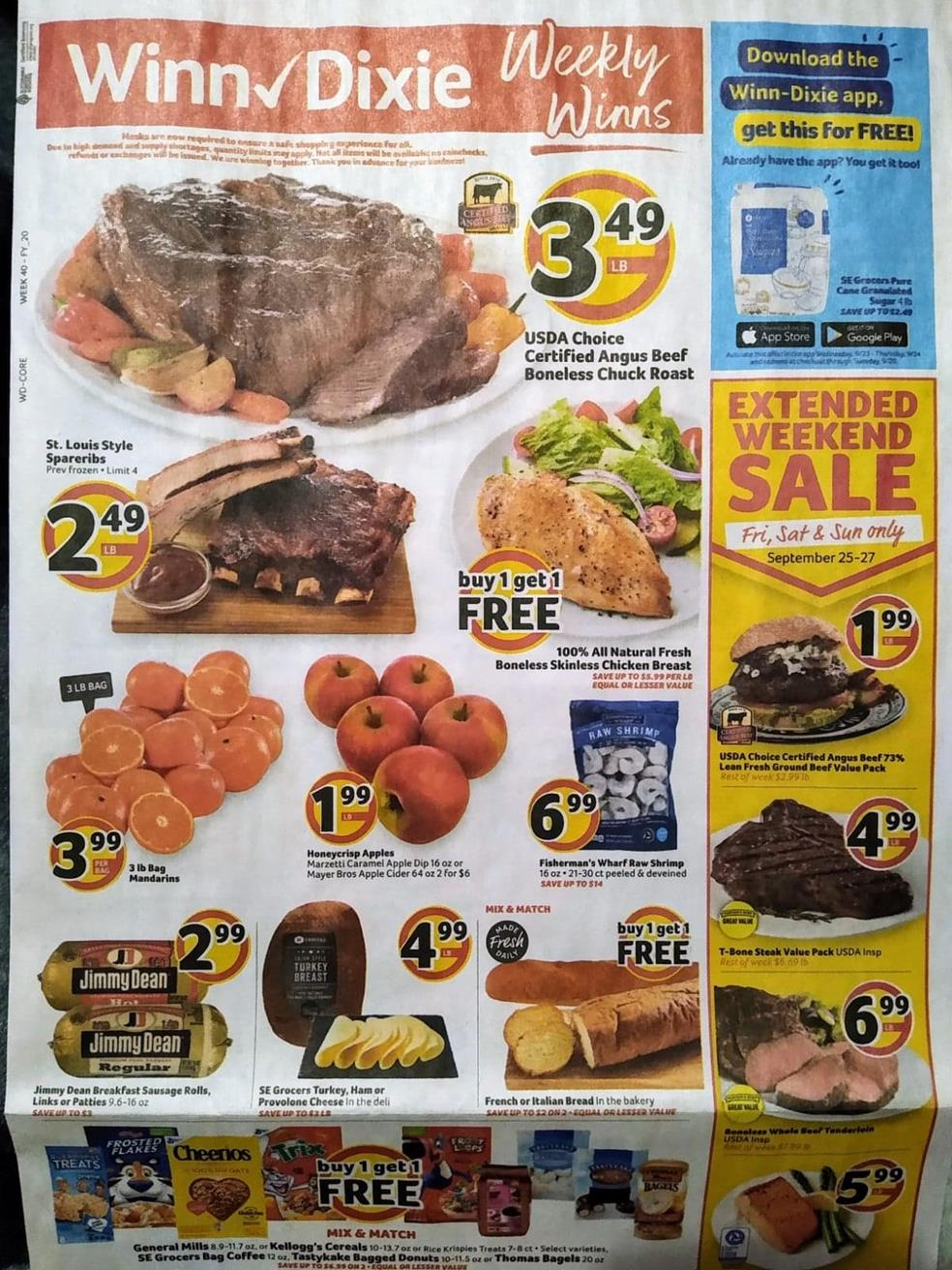 winn dixie weekly ad sep 23 2020