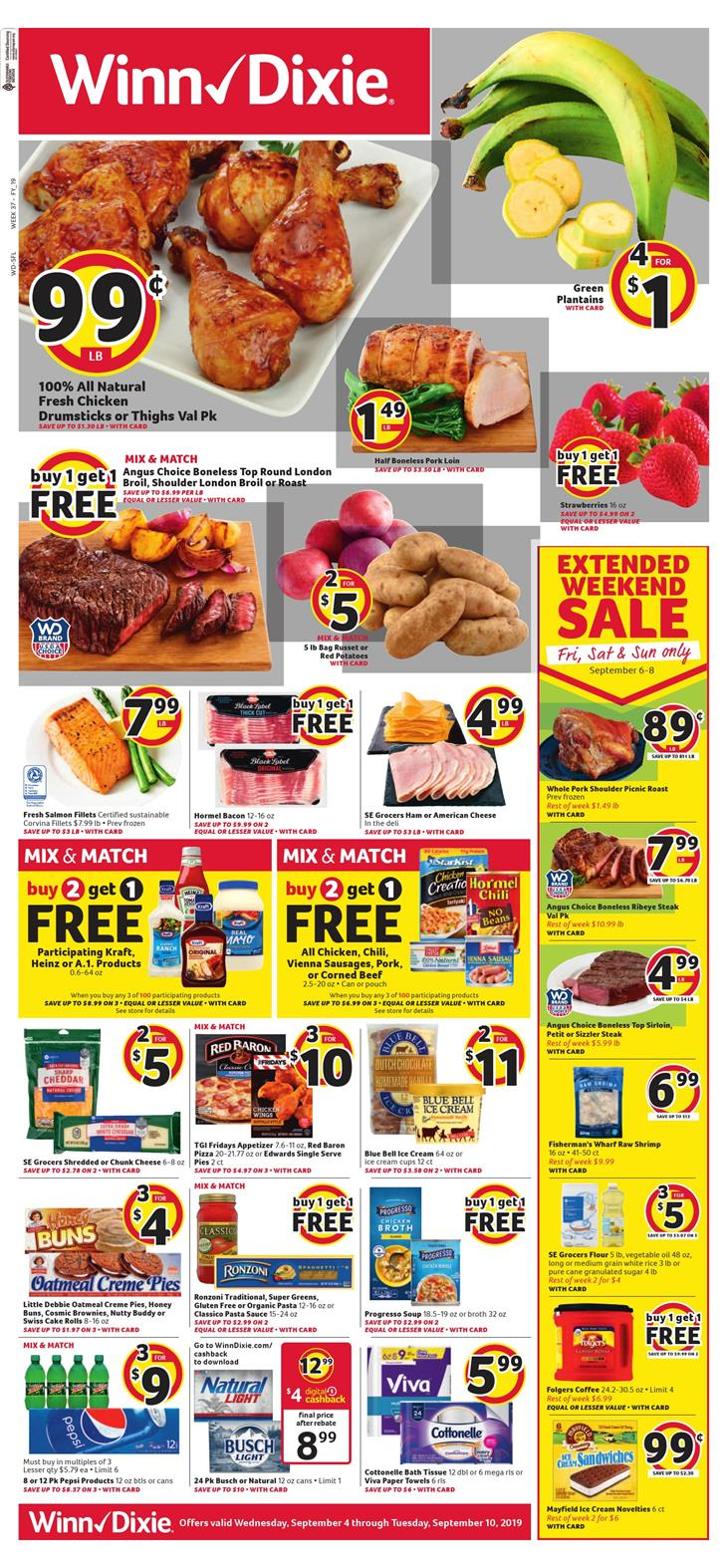 winn dixie weekly ad sep 4 2019