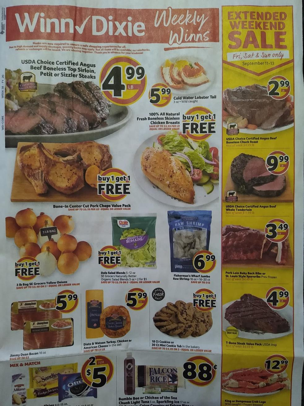 winn dixie weekly ad sep 9 2020